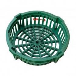 Košík na cibuľoviny, zelený, 22 cm, 3 ks
