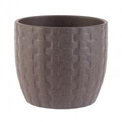 Keramický obal, hnedý, 14 x 12 cm