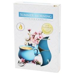 Sviečky čajové, letné ráno, 6 ks