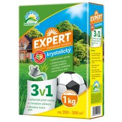 Kryštalické trávnikové hnojivo 3 v 1 - Expert, 1 kg