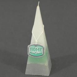 Dekoračná sviečka, paramída, Home sweet home, 0,166 g