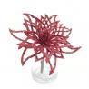 Zápich vianočný kvet, červený, 12 cm
