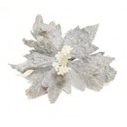 Zápich vianočná ruža, modrosivá, 28 cm
