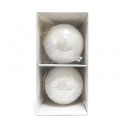 Sklenené gule, 10 cm, 2 ks