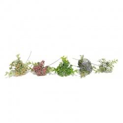 Prízdoba vetva bobule, mix farieb, 25 cm