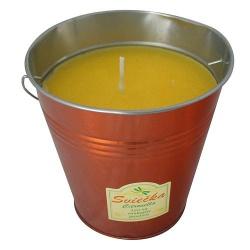 Vonná sviečka, vedierko, Citronela, 610 g