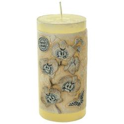 Sviečka dekoračná, valec, ecru, 7 x 14 cm