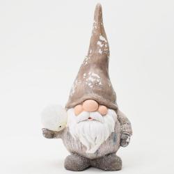 Vianočná keramika, trol s gulou, LED, 26 x 19,5 x 47 cm