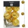 Vianočné svietidlá AX5100170, Metal, zlaté gule, 10 ks
