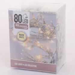Vianočné svietidlá AXS000680, WARM WHITE, 80 LED