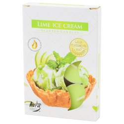 Vonné čajové sviečky, ice cream lemon, 6 ks