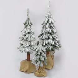 Vianočný stromček, zasnežený, na kameni, 120 cm