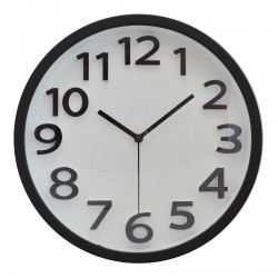 Plastové nástenné hodiny DE8713W