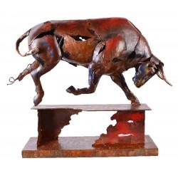 Kovová socha 39x46x33 Býk