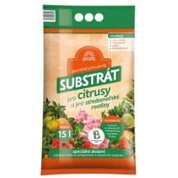 Substrát pre citrusy a iné stedomorské rastliny - PROFÍK, 15 L