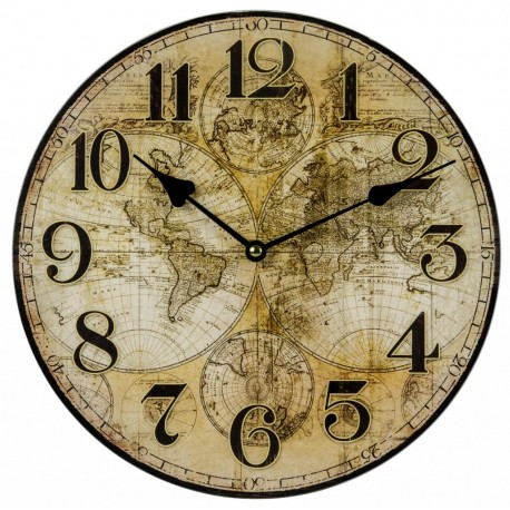Drevené nástenné hodiny BLC34044