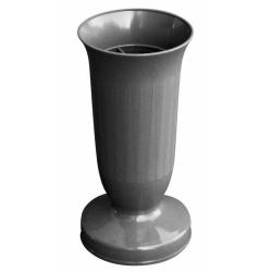 Nízky záťažový kalich, tmavo šedý, 22 cm