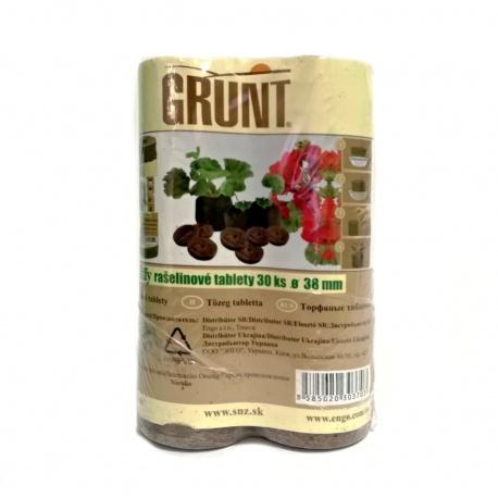 Jiffy GRUNT, rašelinové, 38 mm, 30 tabliet