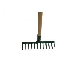 Hrable 12 zubé s násadou, 25,5 x 7,5 / 160 cm