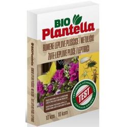 Lepové dosky na motýle, Bio Plantella, žlté, 10 ks