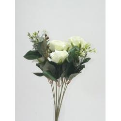 Kytica ruža + doplnky, x6, 40 cm