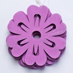 Výrez kvietky, fialové, 7 cm, 10 ks