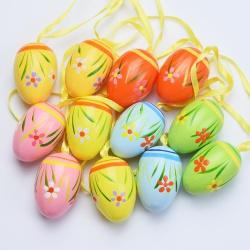 Veľkonočné vajíčka, plast, 4 cm, 12 ks