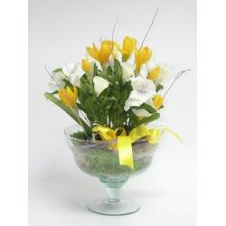 Aranžmá jar, sklo, 25 x 35 cm