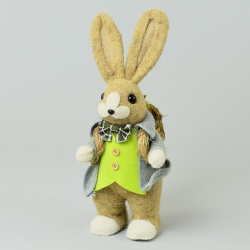 Slamený zajac s košíkom, 19 x 14 x 35 cm