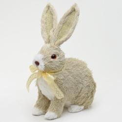 Slamený zajac, 15 x 24 x 31 cm