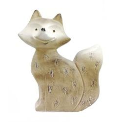 Líška keramická, plochá, 38 cm