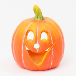 Tekvica keramická s úsmevom, 9 x 8 x 10,2 cm