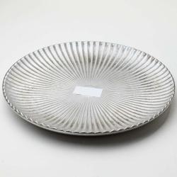 Tácka kruh, strieborná, 30 x 3 cm