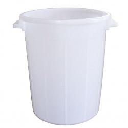 Nádoba plastová, biela, s úchytmi, 100 L