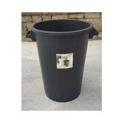 Nádoba plastová, čierna, s úchytmi, 100 L