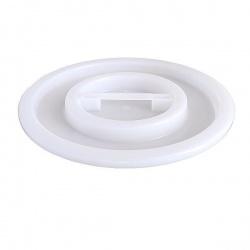Veko na plastovú nádobu, biele, 100 - 120 L