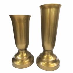 Váza kalich, zaťažová, nízka, zlatá, 22 x 10 cm, 1 ks