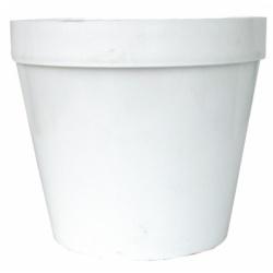 Kvetináč 01, biely, 8 cm