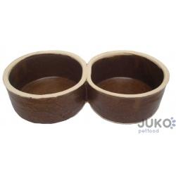 Keramická miska, dvojitá, 2x 0,5 L