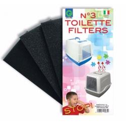 Náhradný filter do WC, 9 x 18 x 2 cm, 3 ks