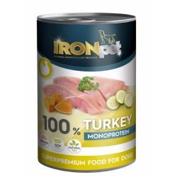 Konzerva Ironpet, morčacia, 400 g