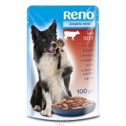 RENO, kapsička pre psa, hovädzie mäso, 100 g