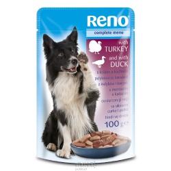 RENO, kapsička pre psa, morčacie a kačacie mäso, 100 g