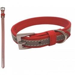 Reflexný obojok, Benny, 1,6 x 35 cm, červený
