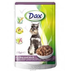 DAX DOG - Kapsička s morčacím a kačacím v omáčke, 100g