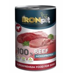 Konzerva Ironpet, hovädzie 400 g