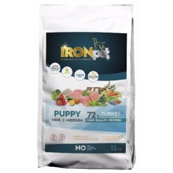 Ironpet Puppy, Mini & Medium, morčacie, 1 kg