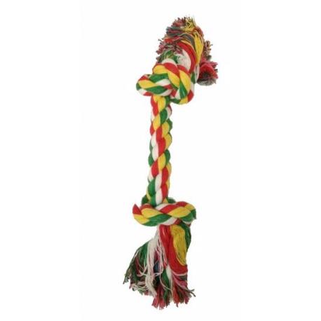 Hračka Lano s 2 uzlami, bavlna, 15,5 cm