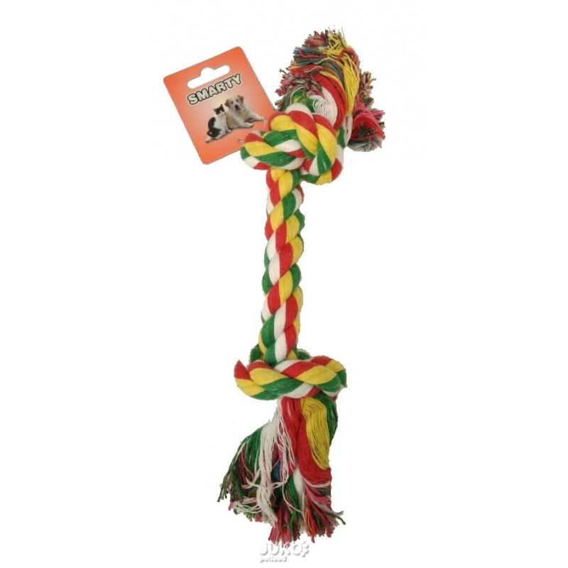Bavlnené lano - 2 uzly, 23 cm