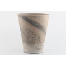 Kvetináč Terakota Bora, šedá, 26 cm